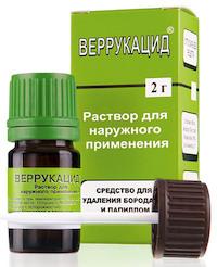 Веррукацид - средство от бородавок в аптеке